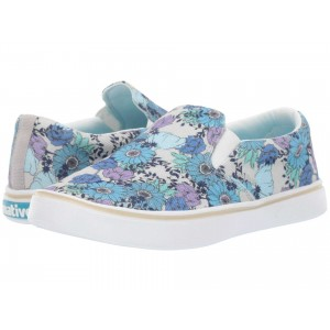 Native Shoes Miles Denim Print White Canvas/Shell White/Jardin