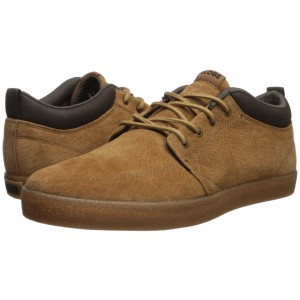 GS Chukka Dark Tan Pigskin Suede/Crepe Synthetic Leather