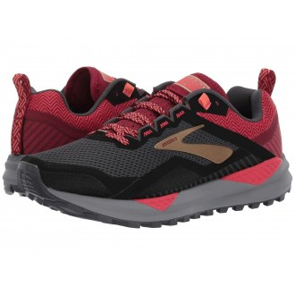 Cascadia 14 Black/Rumba Red/Coral