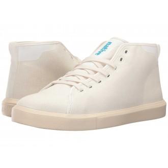 Native Shoes Monaco Mid Shell White Wax/Bone White Canvas