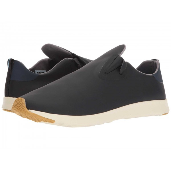 Native Shoes Apollo Moc Jiffy Black/Regatta Blue/Bone White/Natural Rubber