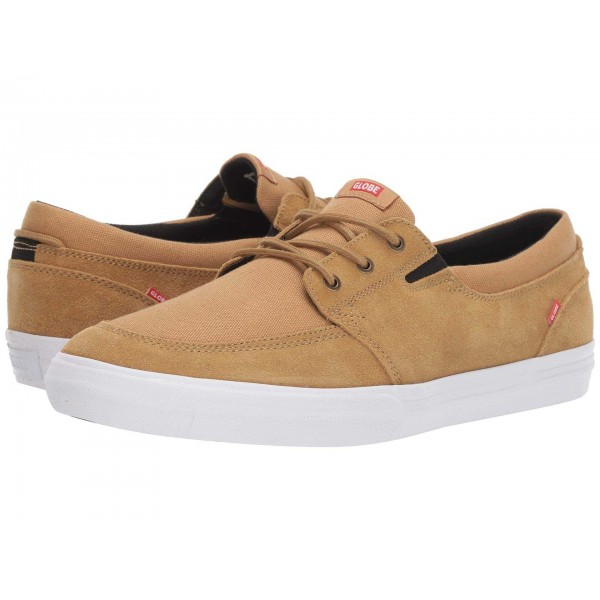Attic Tan Shaved Suede/White Canvas